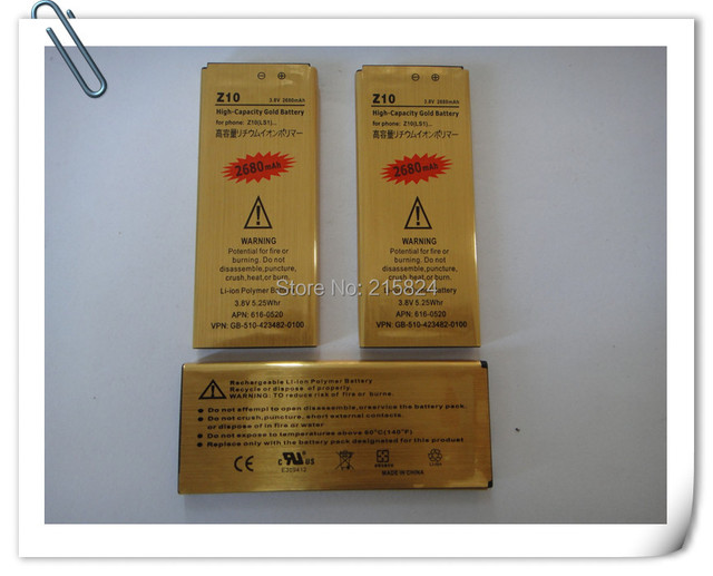 High Capacity 2680mAh LS1 High Capacity Gold Business Replacement Battery for Blackberry Z10