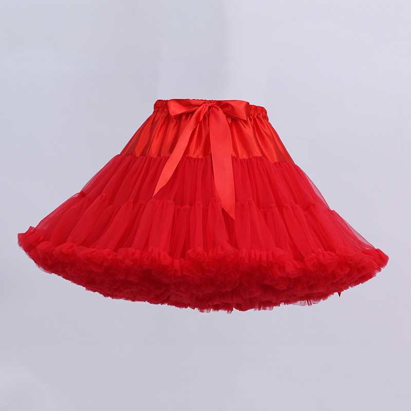 Image 4 - Black or White Short Petticoats for Wedding Girl Tulle Skirt Rockabilly Lolita Woman Girl Underskirt Crinoline PettycoatPetticoats   -