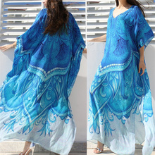 V neck Long Cotton Beach Cover up Pareos de Playa Mujer Beach Wear Plus size Bikini Cover up Robe Plage Sarong Beach Tunic #Q669