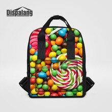 Dispalang женские рюкзаки конфеты с принтом для девочек школьные сумки большой Повседневная дорожная сумка фруктов ноутбук рюкзак девушки ежедневно сумка