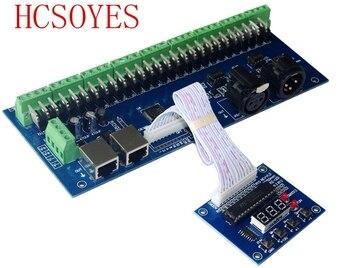 Regleta Remota   De Alta Potencia DC12V-24V 27 CH DMX-27CH-RJ45-led Dimmer 1A * 27CH Decodificador Controlador RGB Led