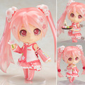 "Nendoroid Hatsune Miku Sakura Miku #500  Action Figure Collection Model Toy 4"" 10CM CVFG116"