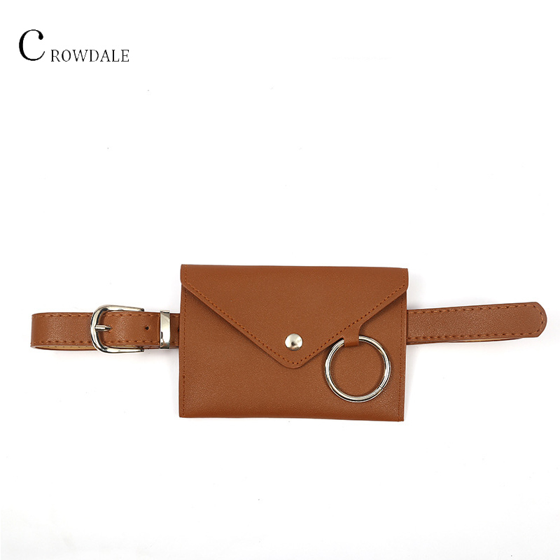CROWDALE Brand Fashion Ladies Waist Bag Female Belt Phone Pouch Bags Designer Women Envelope Bags For Women Girls Fanny Pack
