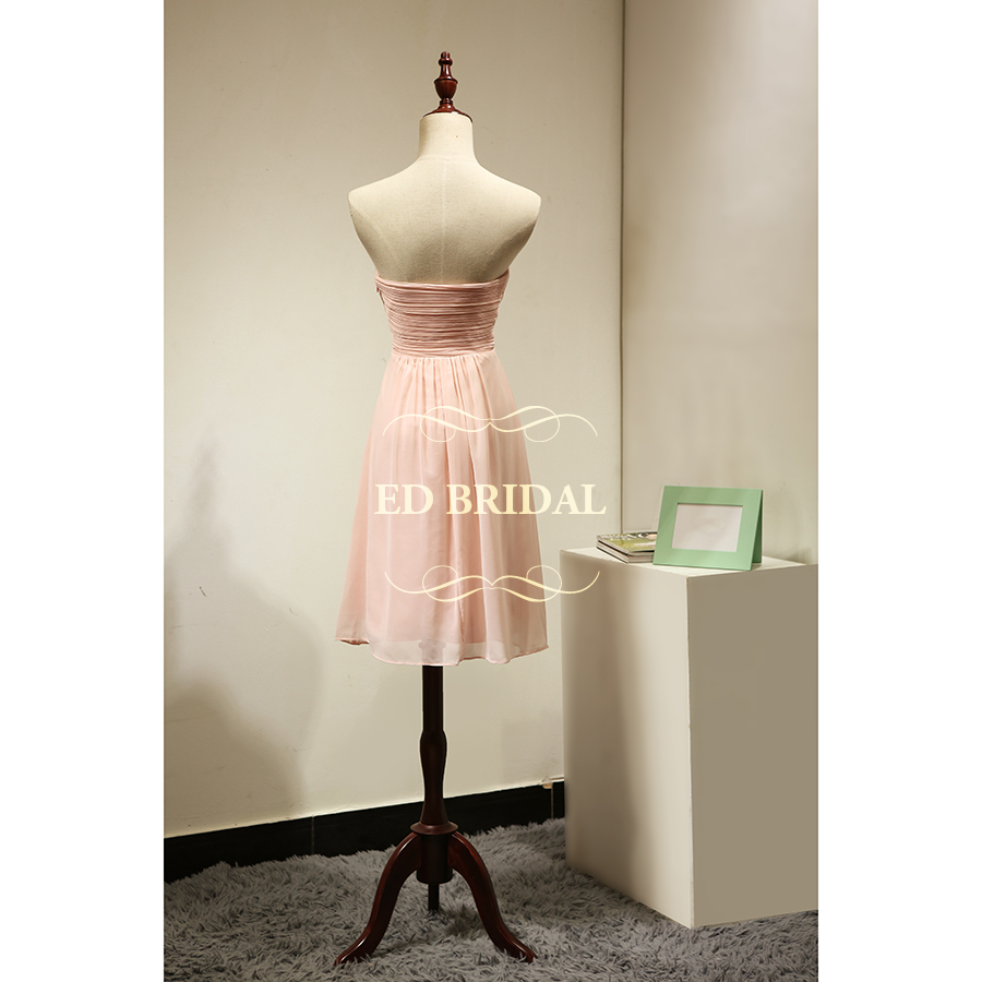 Custom made sweetheart blush pink short bridesmaid dress chiffon custom made sweetheart blush pink short bridesmaid dress chiffon women party gown maid of honor dress robe demoiselle dhonneur in bridesmaid dresses from ombrellifo Choice Image