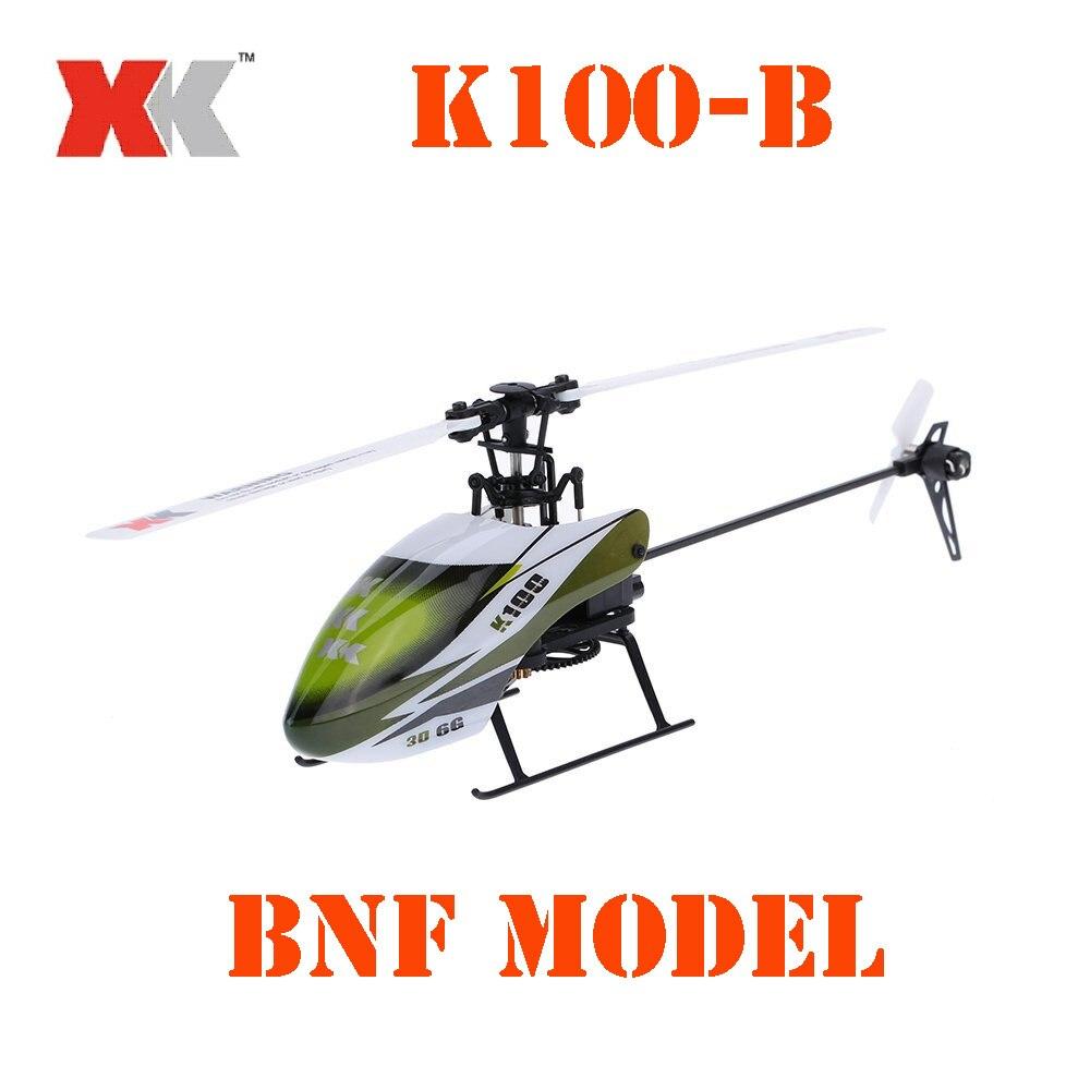 BNF Modell Original XK Falcon K100-B K100B 6CH 3D 6G System Brushless Motor BNF RC Hubschrauber