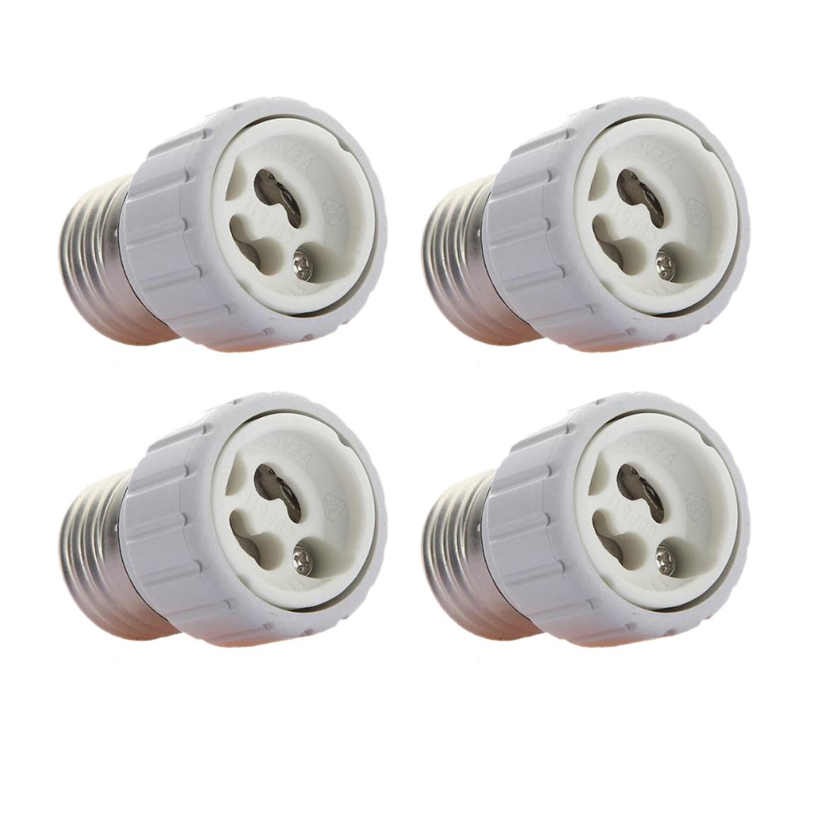 MYLB-4x E27 to GU10 LED light socket adapter socket adapter lamp bulb Converter White