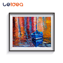 Sailing Boat Seascape DIY Painting By Numbers Kits Acrylic Paint On Canvas Abstract Modern Wall Art Picture Home Decor sailing boat seascape waterproof wall tapestry