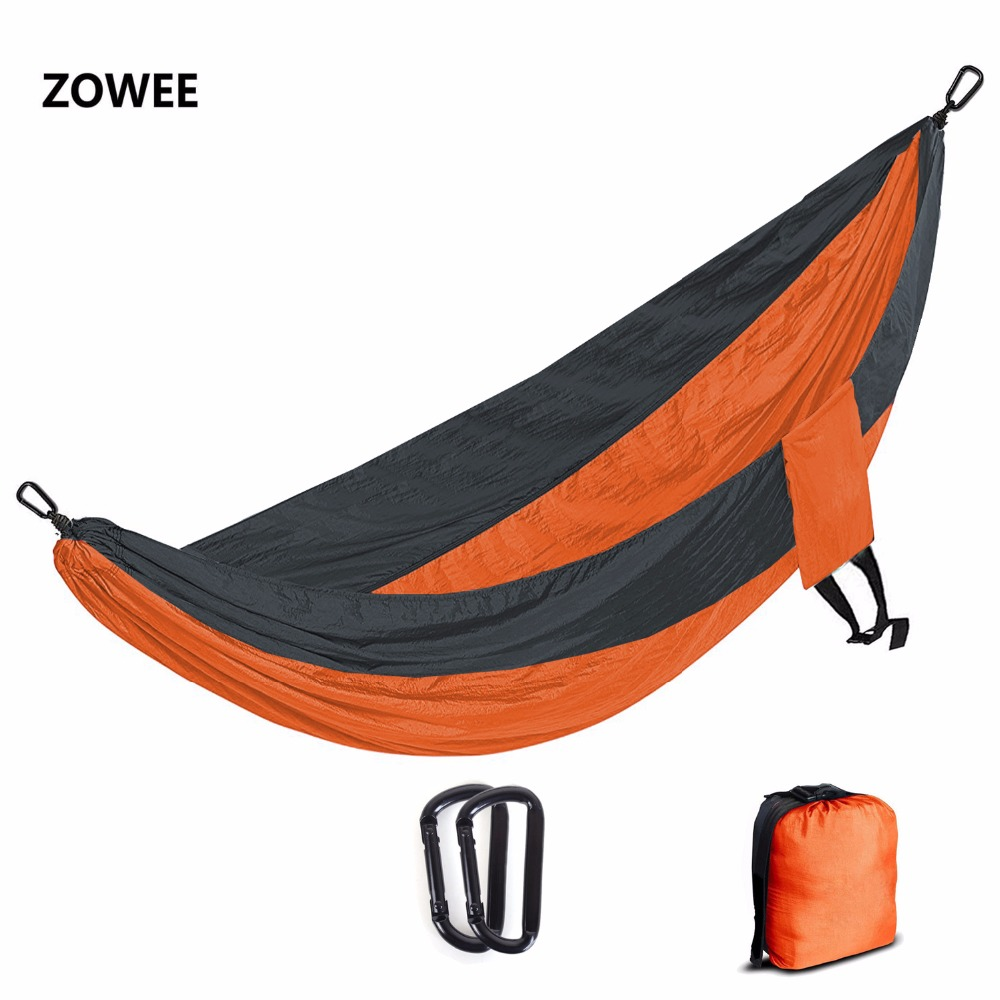 Solid Color Nylon Parachute Hammock Camping Survival garden swing Leisure travel Portable outdoor furniture FREE SHIPPING 2018 camping hiking travel kits garden leisure travel hammock portable parachute hammocks outdoor camping using reading sleeping