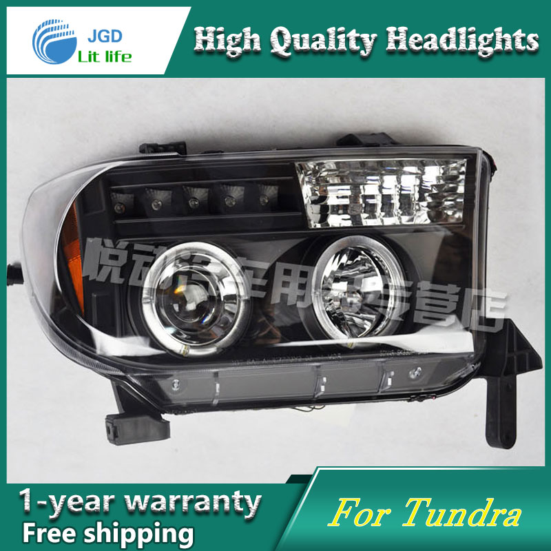 High Quality Car Styling Case For Toyota Tundra Headlights LED Headlight DRL Lens Double Beam HID