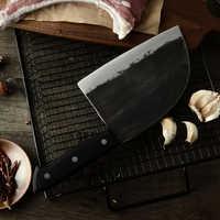 XYj Forgiatura del Cuoco Unico Della Lama Ad Alto tenore di carbonio Rivestito Lama In Acciaio Coltello Da Cucina Completa di Linguetta Temprato Manico Tagliere Taglio di Carne Macellaio coltello