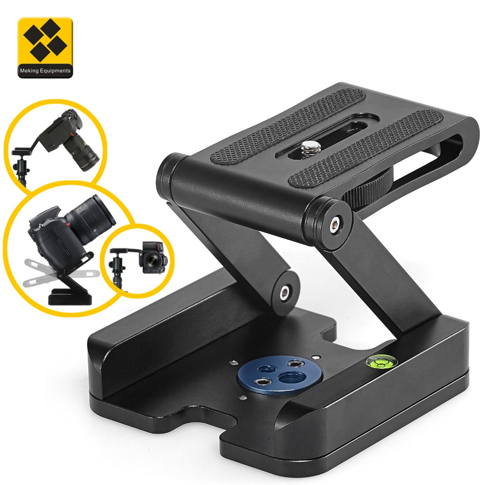 Meking Aluminum Alloy Flextilt Head Desktop Tripod Plate Compatible with Camcorder Slider Rail DSLR Camera GoPro Action Cam 1pcs openbuilds slider gantry plate standard 65 65 3mm aluminum alloy cnc special slider plate for 3d printer