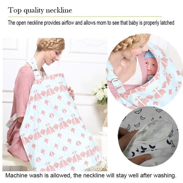 Breastfeeding Cover Muslin nursing cloth L large size
