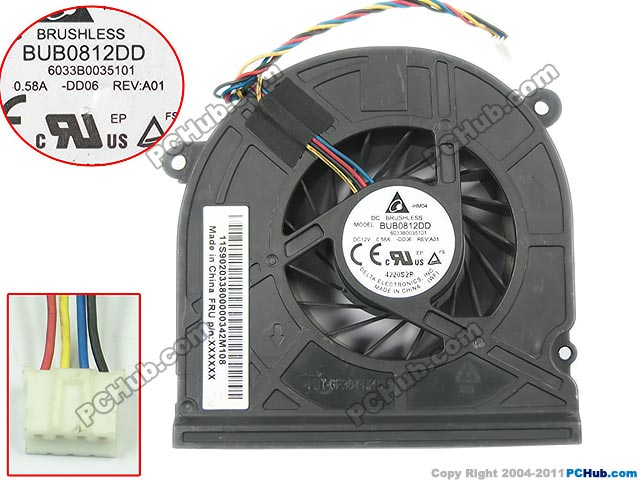 Delta BUB0812DD, -DD06 DC 12V 0.58A 4-wire 4-pin connector 50mm Server Baer Cooling fan delta 12038 12v cooling fan afb1212ehe afb1212he afb1212hhe afb1212le afb1212she afb1212vhe afb1212me