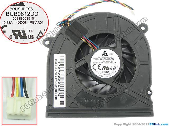 Delta BUB0812DD DD06 DC 12V 0.58A Server Baer fan 4-wire free shipping for delta afc0612db 9j10r dc 12v 0 45a 60x60x15mm 60mm 3 wire 3 pin connector server square fan