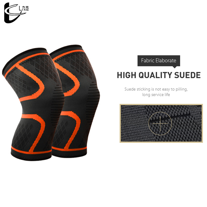 1 Pair Sports Knee Pads Charcoal Fibre Rubber Band Cotton Yarn Nylon Knee Protector Windproof Keep