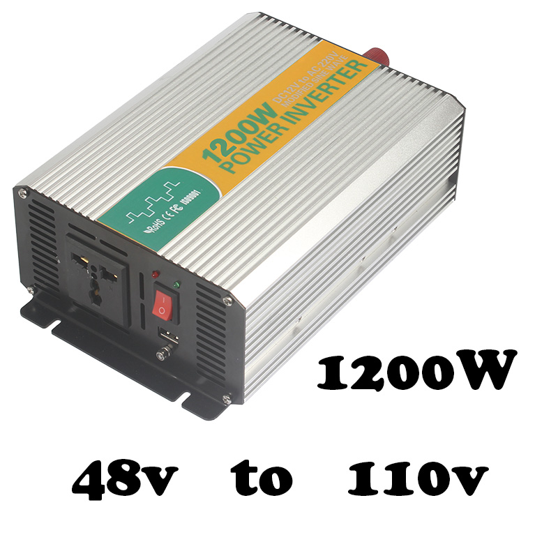 1200W 48V to 120V watt power inverter 48v inverter 120v power inverter modified sine wave form  dc ac house power inverter 12001200W 48V to 120V watt power inverter 48v inverter 120v power inverter modified sine wave form  dc ac house power inverter 1200
