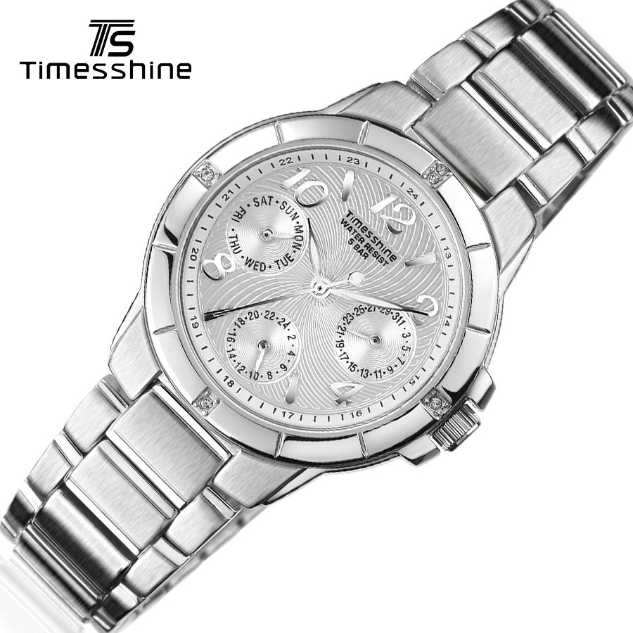Timesshine ladies watch  White/Pink/Black optional Luxury crystal diamond women watch Stainless steel quartz watches lady wrist timesshine women watch quartz watch