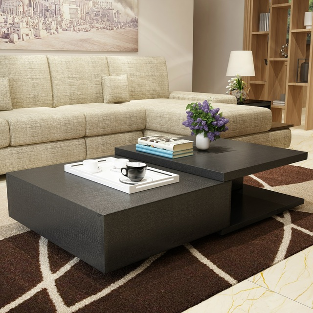 Us 651 2 Friends Product Simple Small Apartment Living Room Coffee Table With Telescopic Pumping Storage Tea Tv Cabinet Combination Teas On