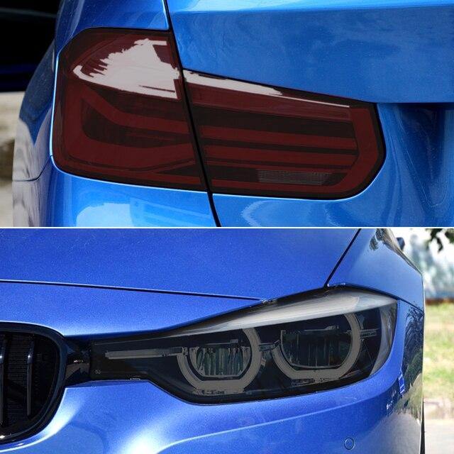 Car Tint Headlight Taillight Fog Light PVC Film for Subaru Forester Audi A3 Q5 Q7 A4 B6 B7 A5 A6 C5 C6 Opel Insignia Corsa d