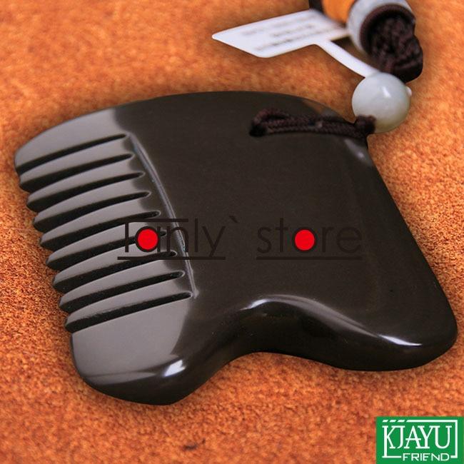 цена 5A grade Original Si Bin Bian stone massage guasha comb 85x60x8mm