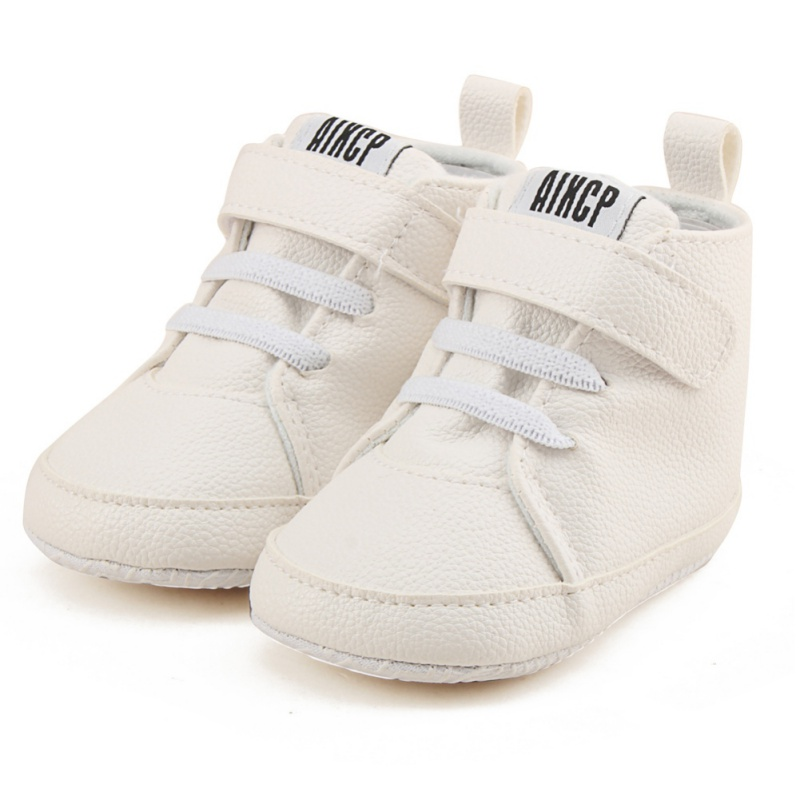 All Seasons Baby PU Shoes Toddler Newborn First Walkers Kids Boy Girl Soft Sole Canvas Sneaker 0-12Months
