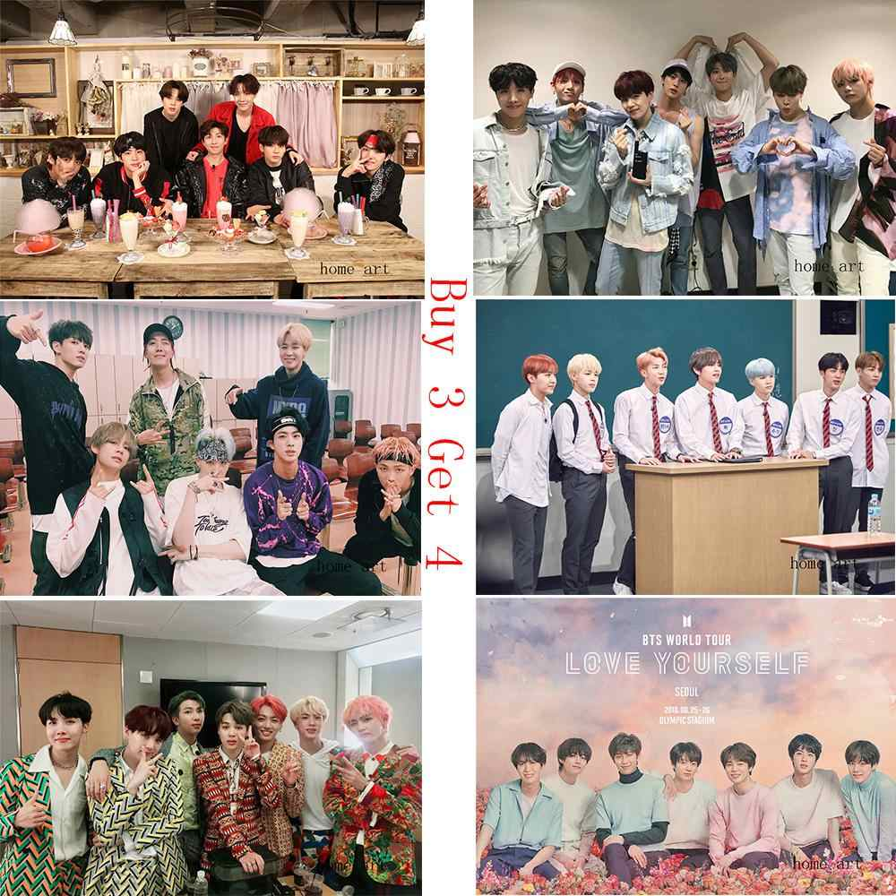 BTS 2018 Poster Clear Image Wall Stickers Home Decoration High Quality Prints White Coated Paper