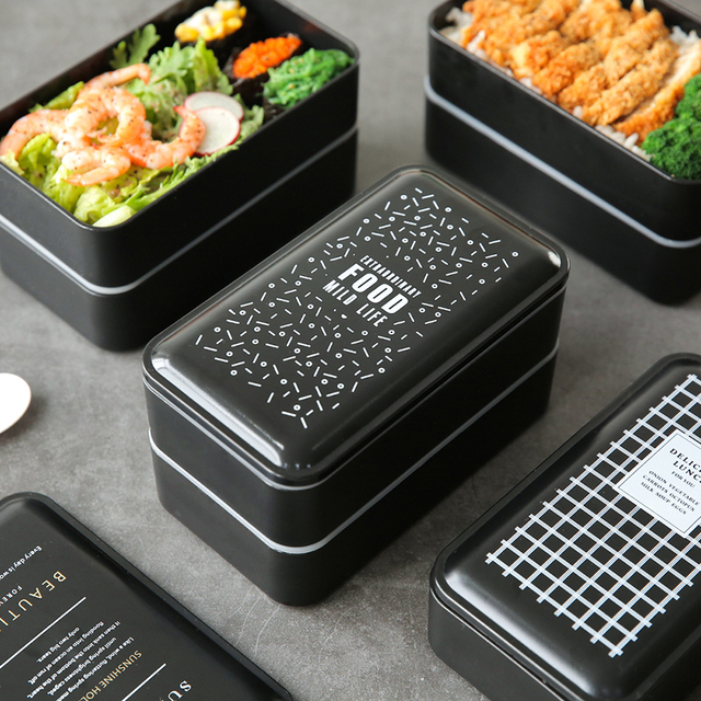 Eco-friendly double-layer Portable Lunch box