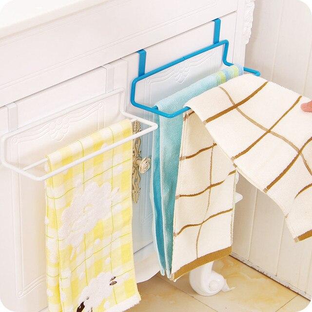 Multi-functional double layer towel holder over door rack Cabinet towel Hanger Bathroom Bar Hook hardware bathroom accessories