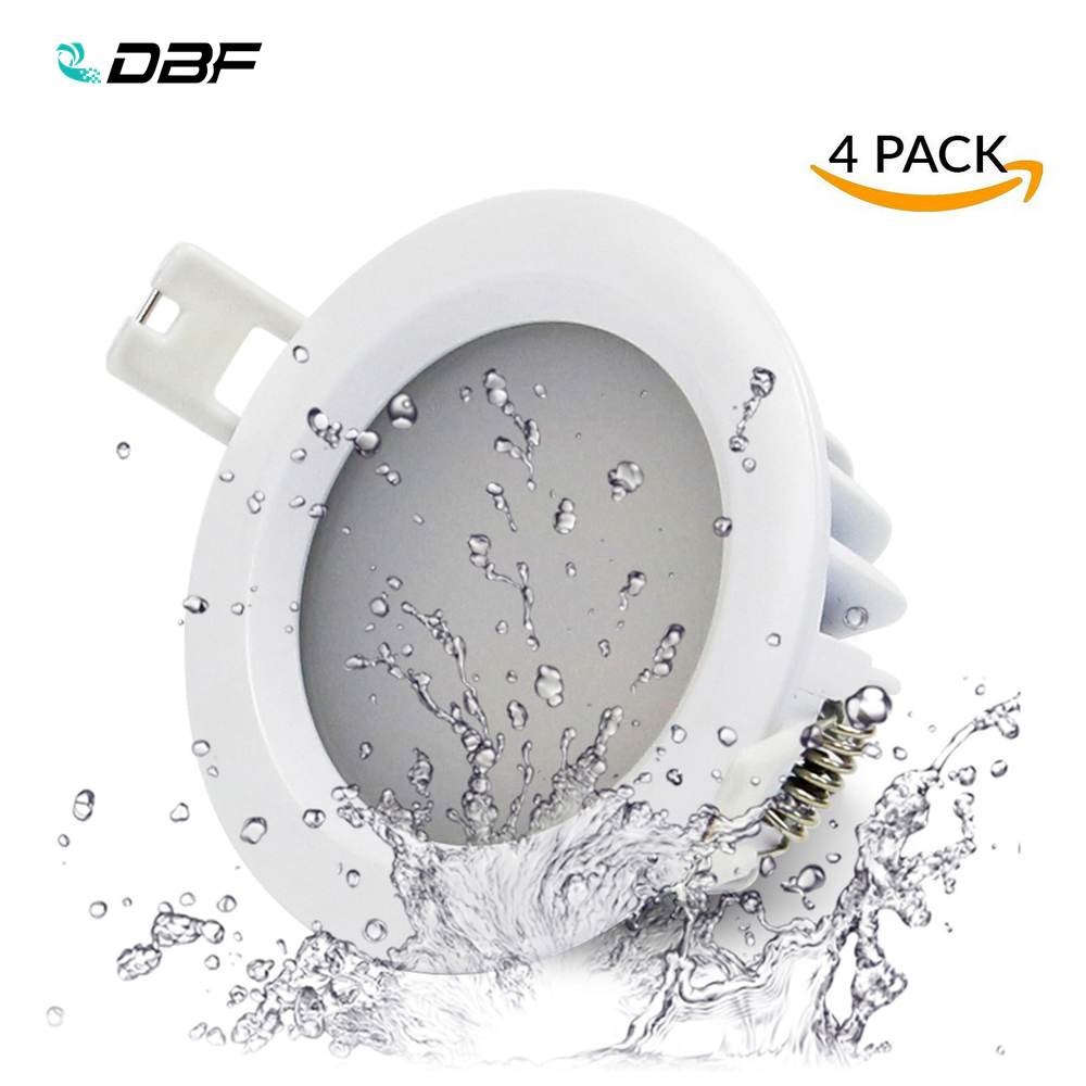 [DBF]4pcs IP65 LED Downlight Waterproof 5W 7W 9W 12W 15W LED Spot light for Bathroom light LED Recessed Ceiling Lamp 110V/220V