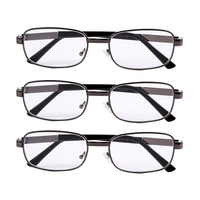 3x Reading Glasses Stylish Fashion Metal Frames Readers Eyeglasses Brand Eyewear Specs Mens Womens 1 0