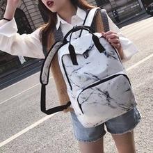 цены на Large Capacity Marble Backpack Female Unisex Women Canvas Backpacks for Teenager Girls Bags Marbling Rucksack School Bag в интернет-магазинах