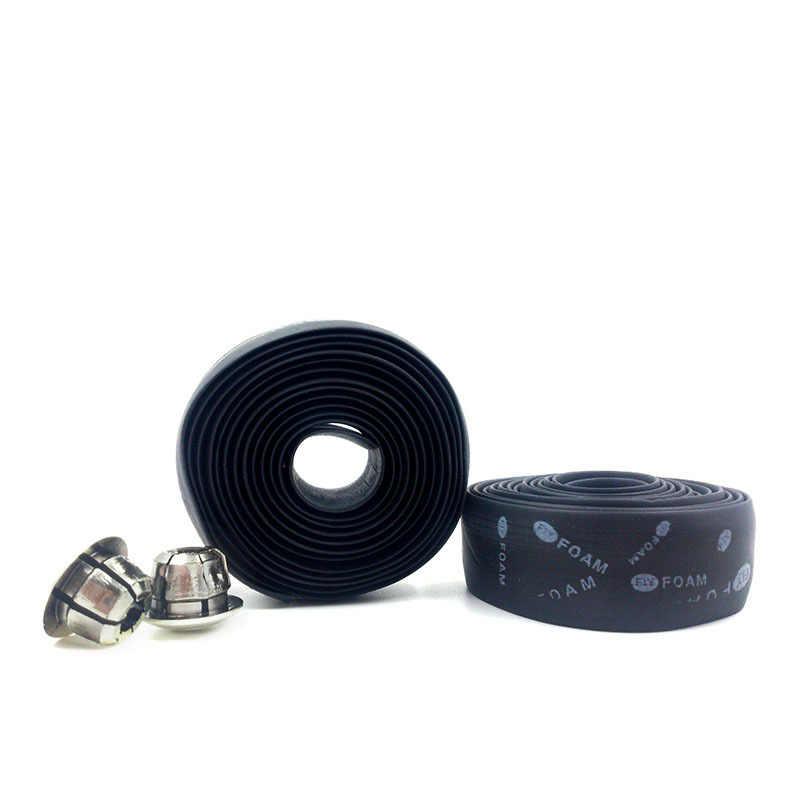 1 pièces noir/bleu cyclisme poignée ceinture vélo vélo liège ruban pour guidon + 2 Bar plug