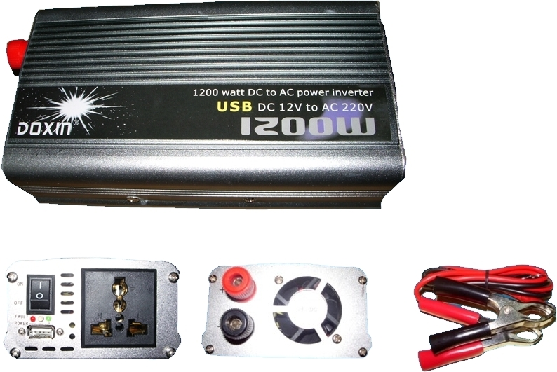 цена на free shipping 1200W 1200 WATT Modified Sine Wave 12V DC In to 220V AC Out Power Inverter with USB port