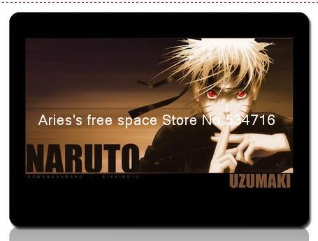 Black anime character Naruto gaming mouse pad cheapest computer mouse mat gamer 8 size for gear mouse pad ...