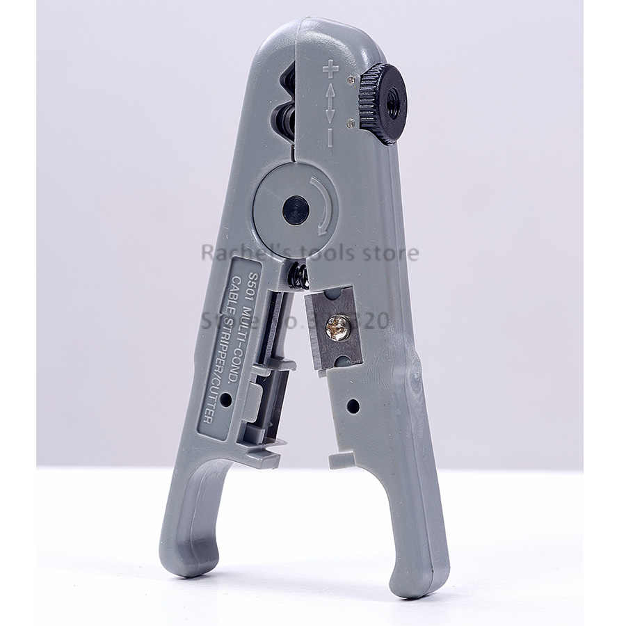 utp/stp cable stripping tool,rj45 cable wire stripper cutter with an adjustable knob LS-S501B