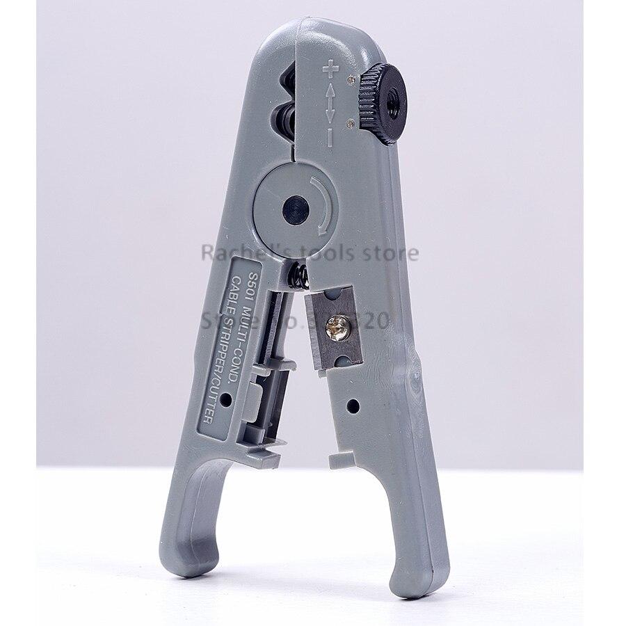 Werkzeuge Rj45 Kabel Draht Stripper Cutter Mit Eine Einstellbare Knob Ls-s501b Mild And Mellow Fein Utp/stp Kabel Strippen Werkzeug Zangen