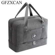 New men and women waterproof travel bag large capacity dry and wet separation beach bag clothing storage travel bag цены