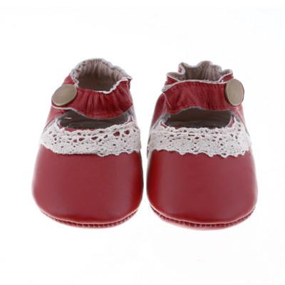 Atacado 100 pares/lote Genuíno Couro Branco Rendas Mary Janes Bebê Criança Borla mocassins Bebê Meninas Fivela Primeiros sapatos Walker