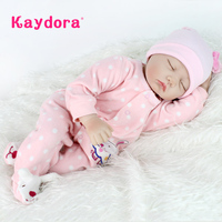 Kaydora 55 cm Reborn Baby Dolls Lifelike dolls for girls Doll Reborn Soft Silicone boneca bebe reborn Christmas toys for girls