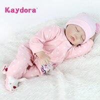 Kaydora 55 cm Reborn Baby Dolls Lifelike dolls for girls Doll Reborn Soft Silicone boneca bebe reborn Christmas toys lol girls