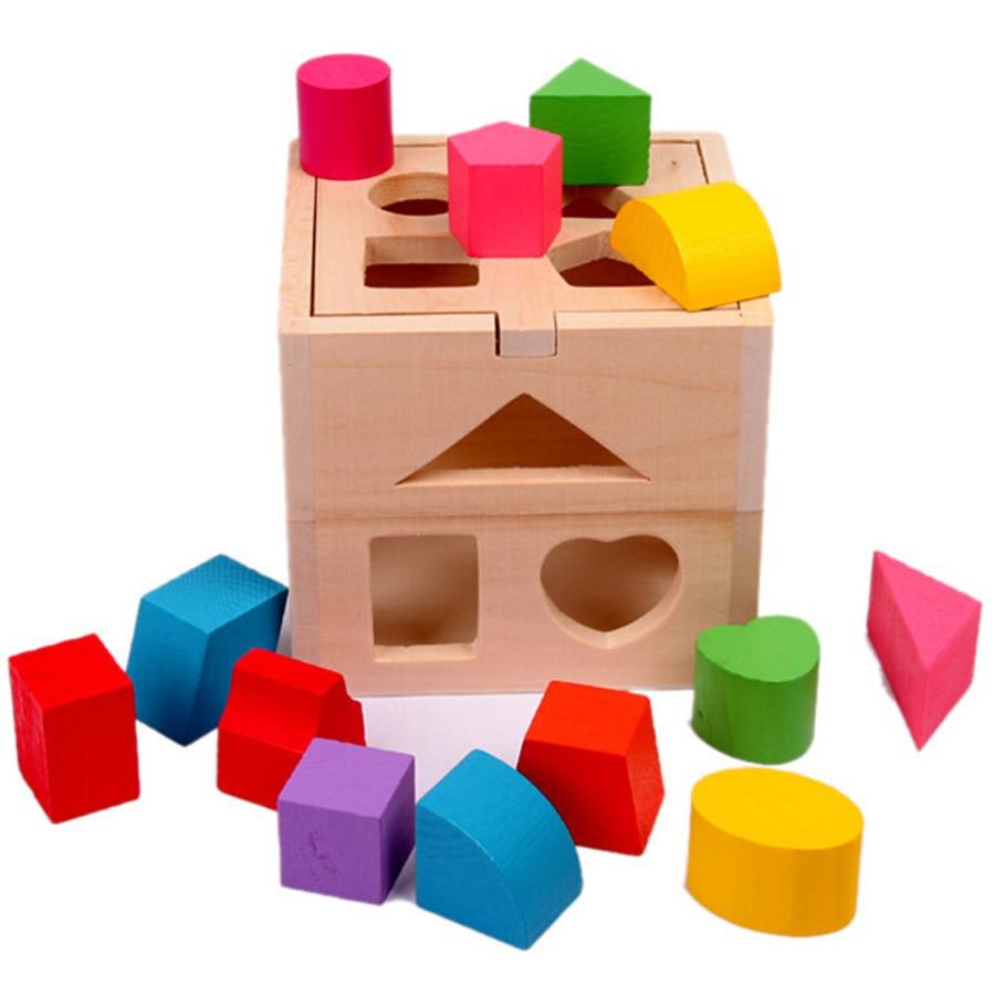 Vauvapuiset lelut Montessori Kids Brinquedos Educativos Lasten - Rakentaminen lelut - Valokuva 2
