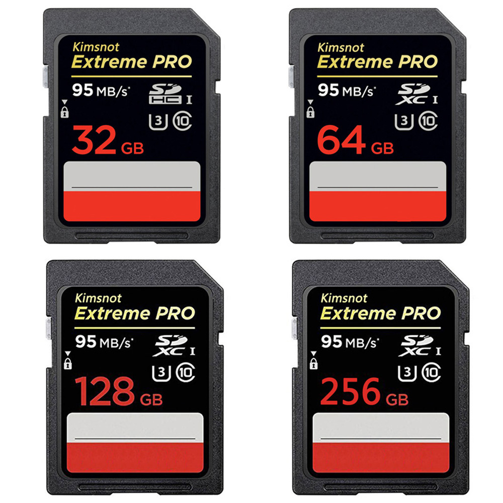 Sd Karte Class 10.Us 5 58 37 Off Kimsnot Extreme Pro Sd Card Class10 Memory Card 16gb 32gb 64gb 128gb 256gb Sdhc Sdxc Flash Card 95mb S C10 High Speed 633x Uhs I In