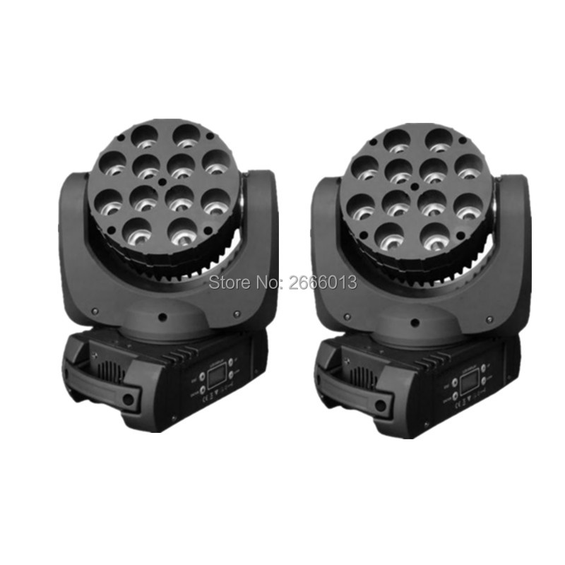 2pcs/lot 12x12W RGBW 4in1 LED Moving Head light LED Beam With Excellent Pragrams DMX512 Channels DJ Disco Bar linear wash lights