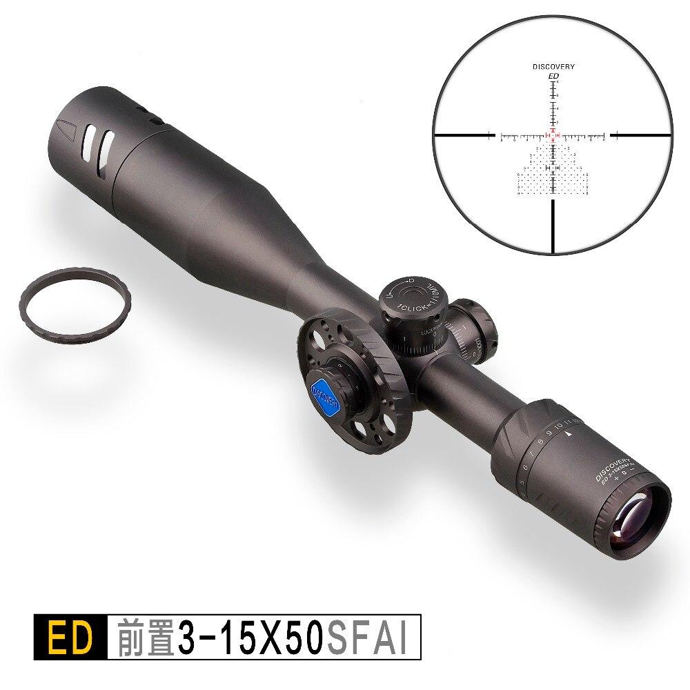 Discovery ED 3-15x50SFIR Riflescope Tactical Optische Richtkijker Hunting Scope side wheel First Focal Plane Gun