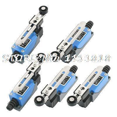 5pcs Momentary Rotary Roller Arm Limit Switch 2NO 2NC ME8108 for CNC Mill Plasma