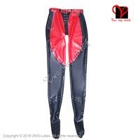 Lattice Sexy Collant con i piedi allacciatura anteriore e posteriore leggings pantaloni di Gomma nero pantaloons Gummi Fondo calze collant XXL