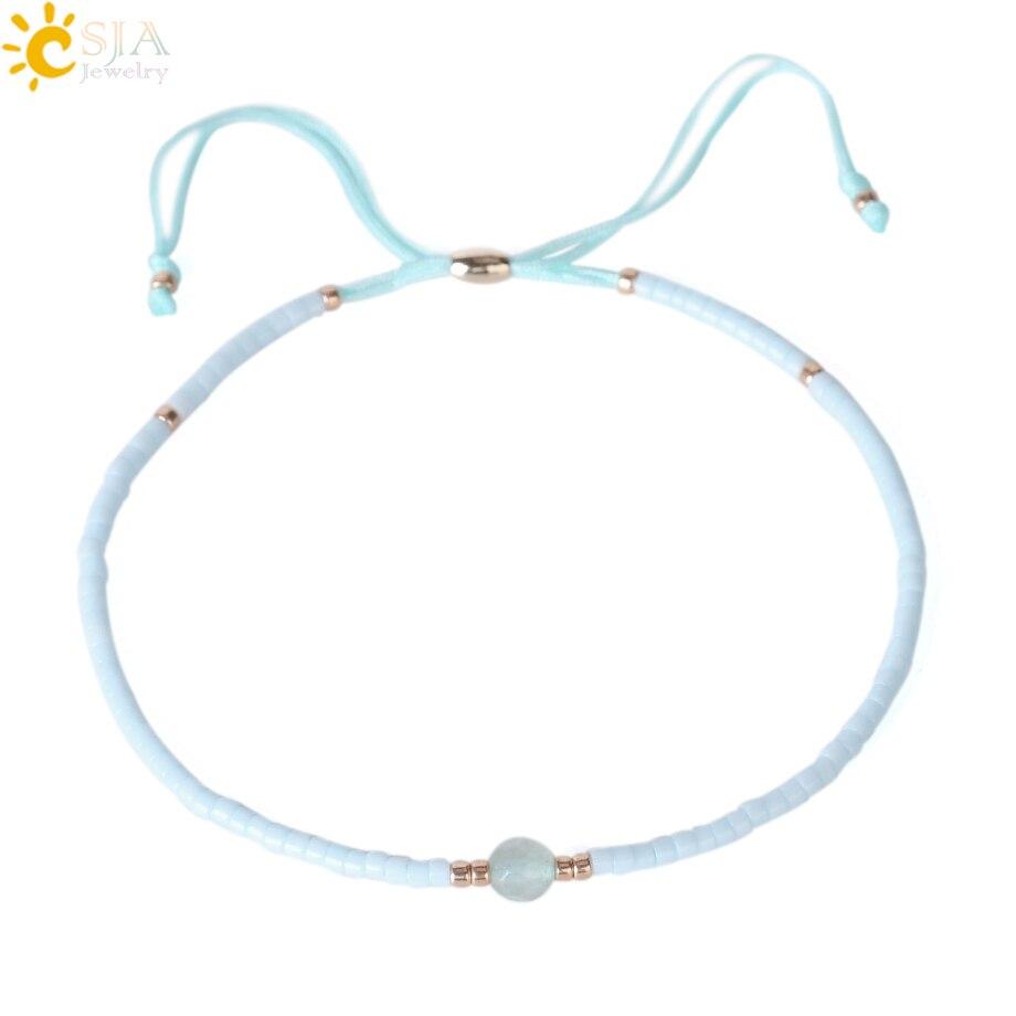 Candid Csja 1 Pc Japanese Miyuki Beads Bracelets Pulseira Feminina Lucky Popular Handmade Rope Chain Mini Bead Bracelet Small Size S032