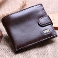 Genuine Leather Men Coin Wallets Solid Short Card Holder Designer Purses Dollar Price Pouch Cartera