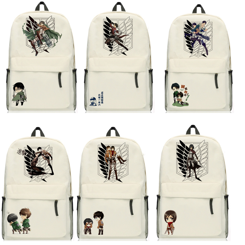 Anime Attack on Titan rivaille ackerman Backpack Cartoon Bags Oxford Student School Bag Unisex цена 2017