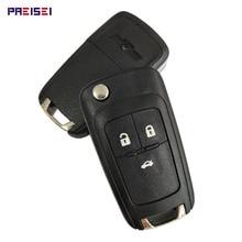 цена на PREISEI 3 Button Replacement Flip Folding Remote Car Key Shell Case For Chevrolet Cruze Epica Lova Camaro Impala Aveo